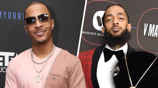 T.I gets his gold chain pendant in honour of Nipsey Hussle