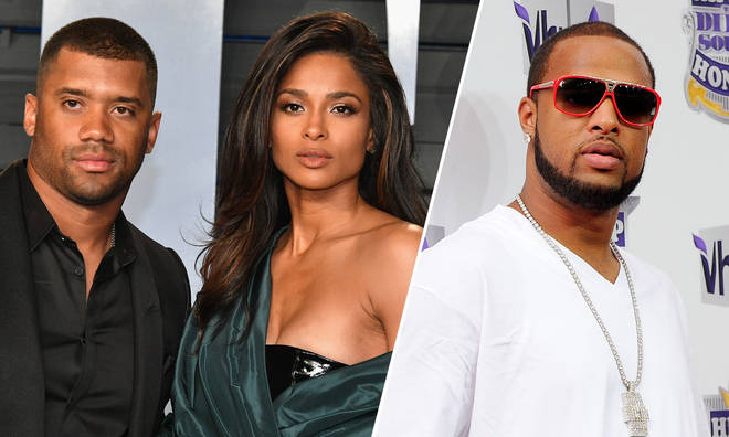 Russell Wilson, Ciara and Slim Thug.