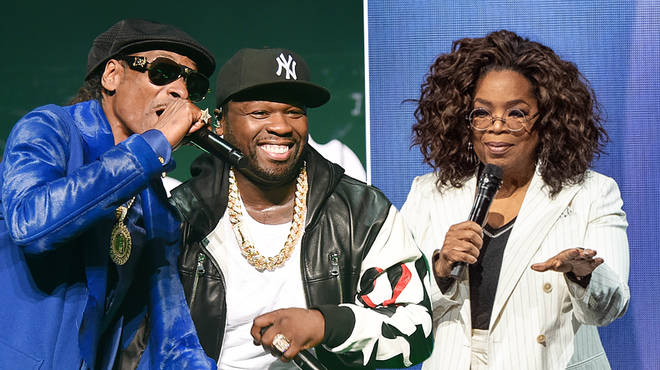 50 Cent and Snoop Dogg troll Oprah Winfrey after she takes a tumble on stage