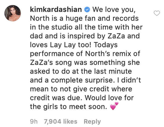 Kim Kardashian responds to ZaZa's parents