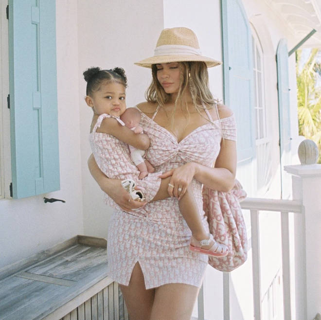 Jenner was joined by her two-year-old daughter Stormi, who she shares with ex Travis Scott.
