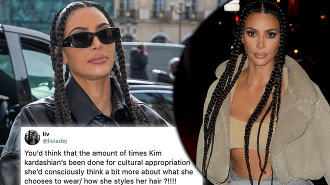 Kim Kardashian receives backlash after debuting her braids hairstyle