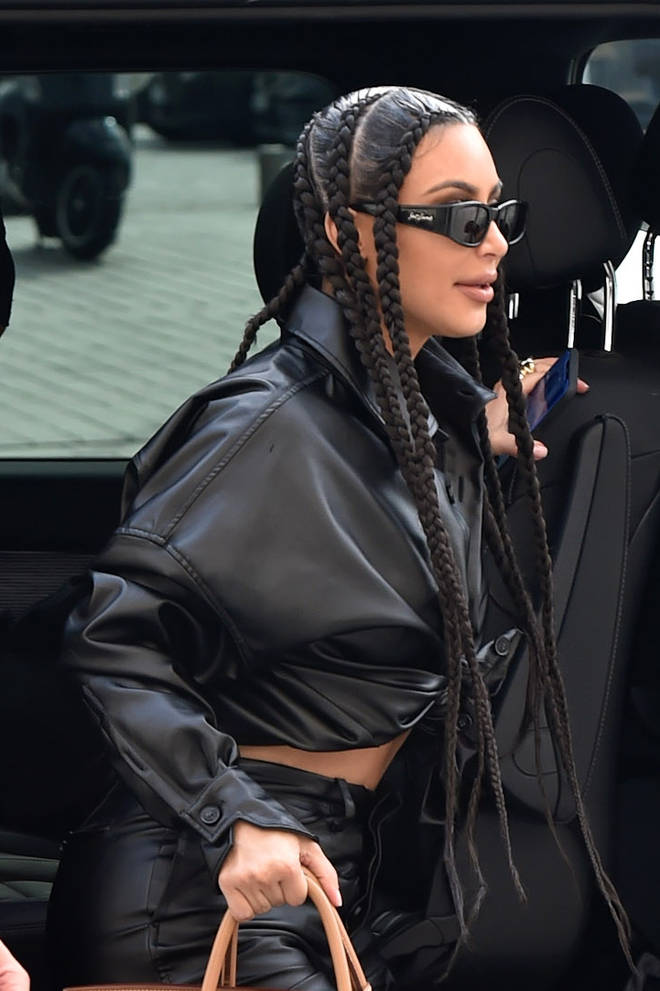 Kim Kardashian sparked controversy after stepping out in braids at Paris Fashion Week.