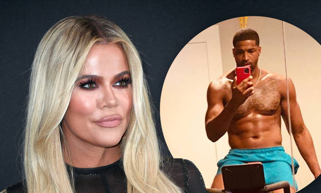 Khloe dropped some laughing emojis on Tristan's latest snap.