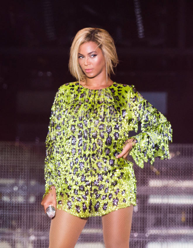 Beyonce wore a very similar green leopard print dress back in 2013.