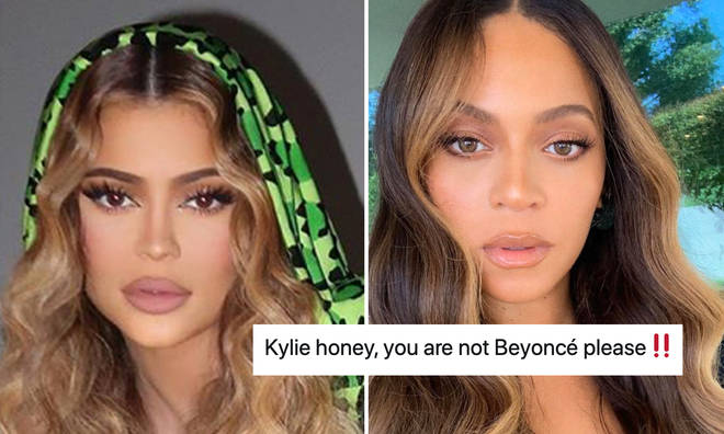 Kylie Jenner has been accused of 'copying' Beyonce in her latest Instagram photos.