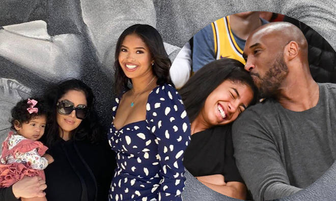 Vanessa Bryant and her daughters visited a mural of Kobe and Gianna.