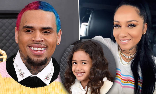 Chris Brown and Nia Guzman spotted at Royalty's football game together