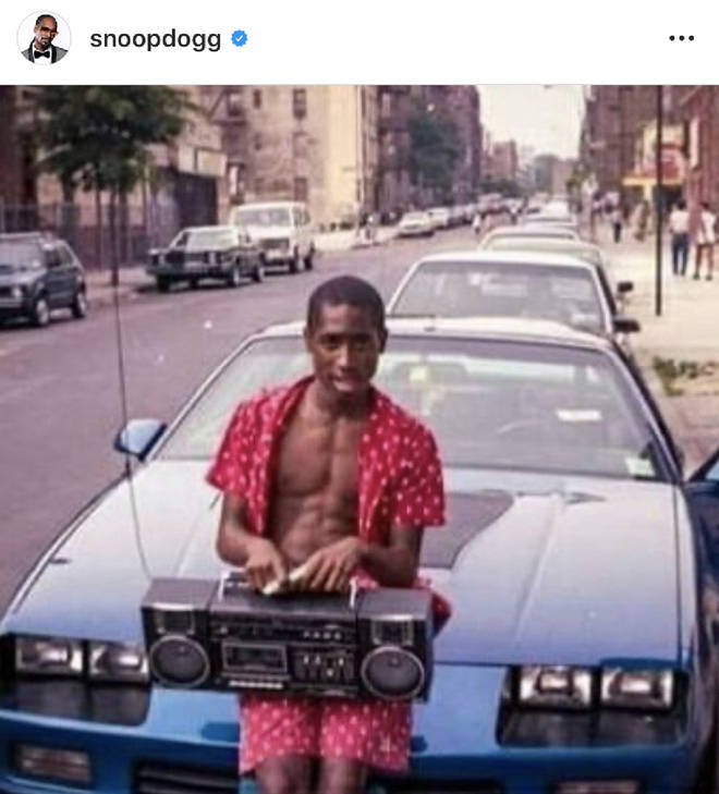 """Young pac,"" Snoop captioned the old photo of Tupac."