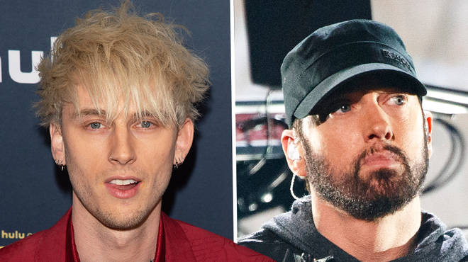 """Machine Gun Kelly throws shade at """"G.O.A.T"""" Eminem on his new track"""