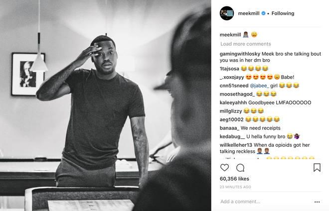 Meek Mill reacts to Nicki Minaj's diss