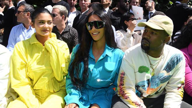 Kanye West With Kim Kardashian & Kylie Jenner