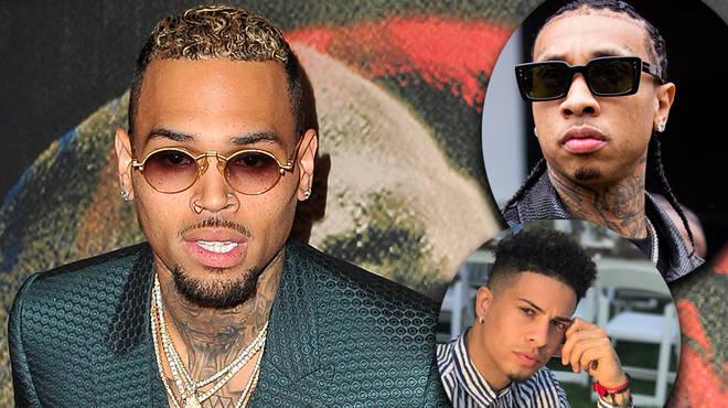 Chris Brown has been slammed after posting a TikTok with Tyga and Austin McBroom