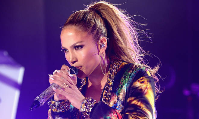 Jennifer Lopez performs onstage at the iHeartRadio Ultimate Pool Party presented by VISIT FLORIDA at Fontainebleau's BleauLive at Fontainebleau Miami Beach on June 28, 2014 in Miami Beach, Florida.