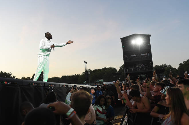 Stormzy headlines the Main Stage on Day 2 of Wireless Festival 2018 at Finsbury Park on July 7, 2018 in London, England.