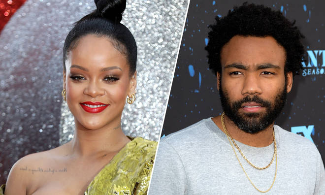 Rihanna and Donald Glover.