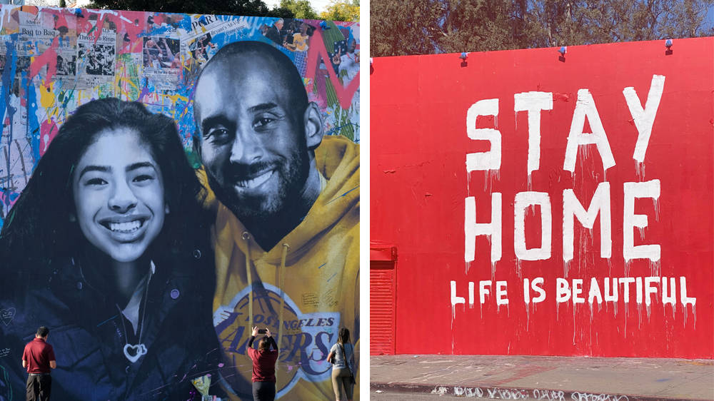 Kobe & Gianna Bryant mural painted over with