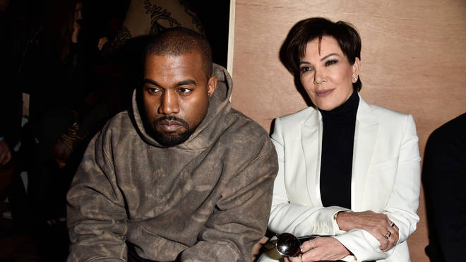 anye West and Kris Jenner attend the Givenchy show as part of the Paris Fashion Week Womenswear Fall/Winter 2016/2017 on March 6, 2016 in Paris, France.