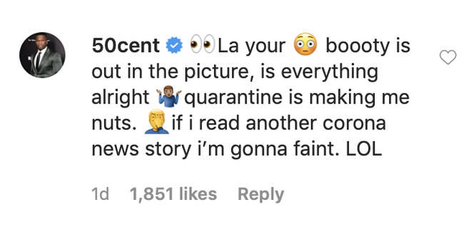 50 Cent came through with the eyes emojis.