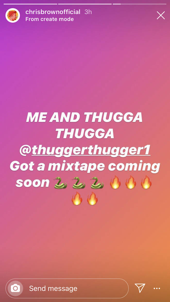 Chris Brown teased an upcoming joint mixtape with Young Thug on Instagram.