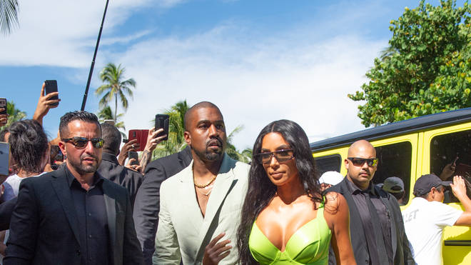 Kanye West & Kim Kardashian arriving at 2 Chainz wedding