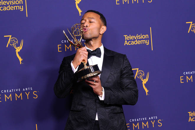 John Legend, who married Chrissy in 2013, is first black man to have won an Emmy, Grammy, Oscar, and Tony (EGOT).