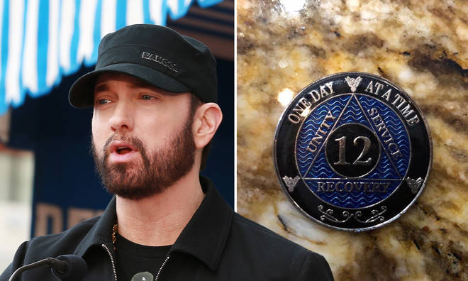"""Eminem celebrated 12 years of sobriety and said he&squot;s """"not afraid""""."""