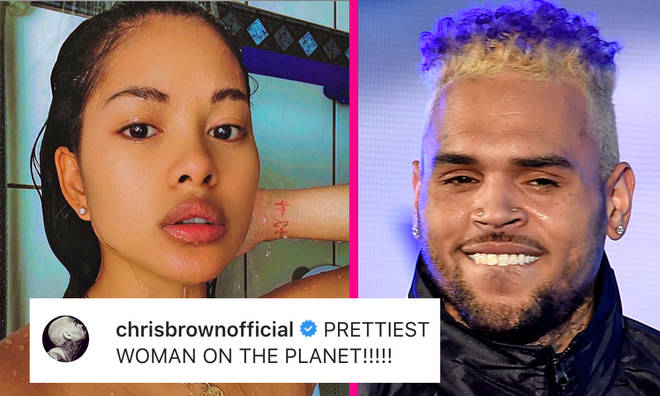 """Chris Brown dclares Ammika Harris """"prettiest woman on the planet"""""""