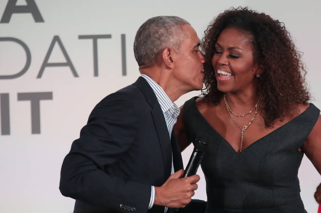 The Obamas signed a production deal with Netflix in 2019. (Pictured here in October 2019.