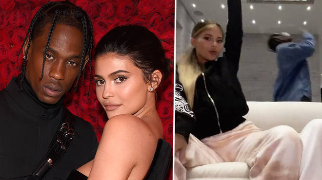 Kylie and Travis spotted together in the beauty mogul's TikTok video