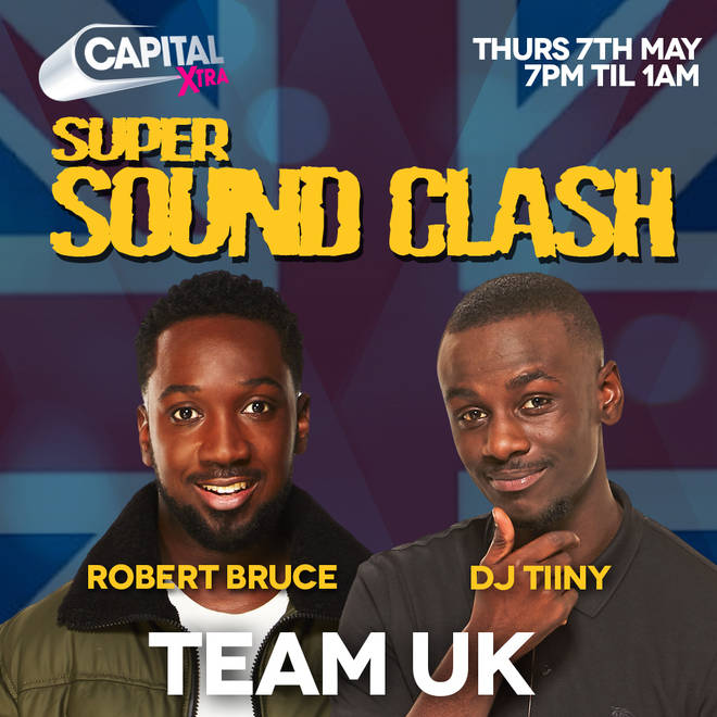 Team UK is represented by Robert Bruce and DJ Tiiny