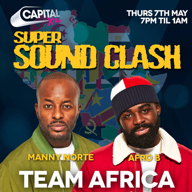 Team Africa is represented by Manny Norte and Afro B