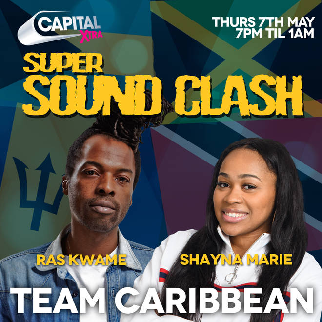 Team Caribbean will be represented by Ras Kwame and Shayna Marie