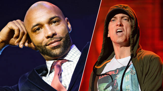 Joe Budden appears at the VH1 'Love & Hip Hop' Season 4 Premiere/Eminem performs during 2014 Lollapalooza Day One.