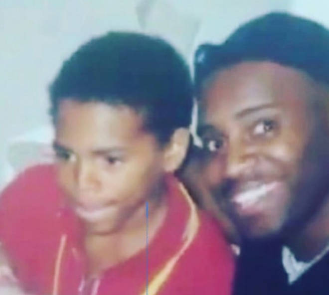 Chris Brown posted a throwback picture with his father, Clinton Brown