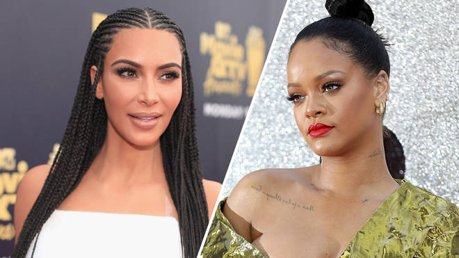 Kim Kardashian attends the 2018 MTV Movie And TV Awards /  Rihanna attends the 'Ocean's 8' UK Premiere.