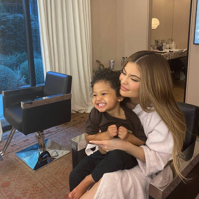 Kylie has been isolating with Stormi, 2, and Stormi's father Travis Scott at her newly-purchased mansion in Holmby Hills, California.