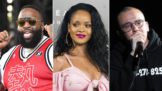Rick Ross, Rihanna and Logic.