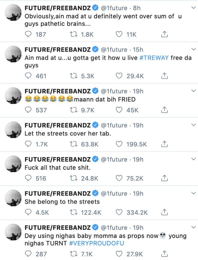 Future dissed Tekashi 6ix9ine's baby mama Sara Molina on Twitter