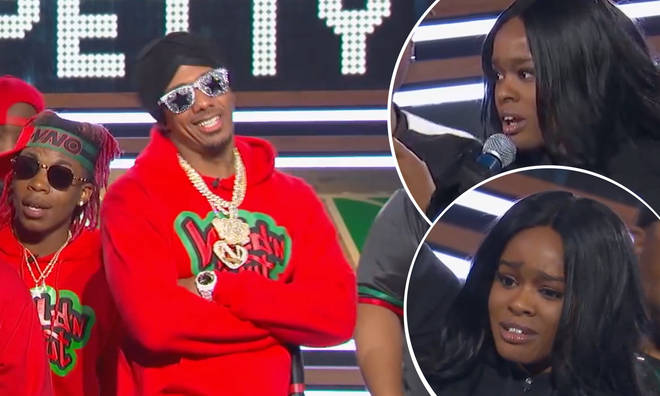 Nick Cannon and Azealia Banks on 'Wild 'N Out'.