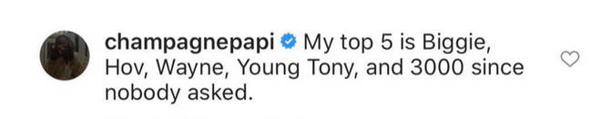 Drake revealed that Young Tony is in his top 5 rappers list