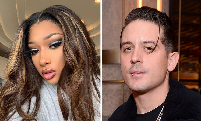 Megan Thee Stallion appeared to dodge G-Eazy's kiss in the clip.