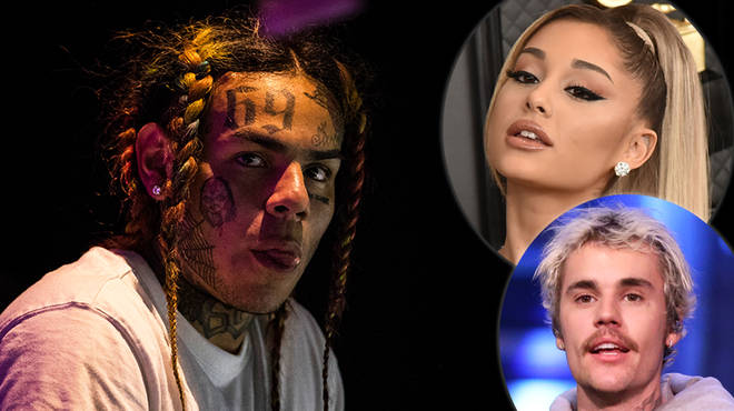 Tekashi 6ix9ine responds to Ariana Grande defending her No.1 Billboard chart position