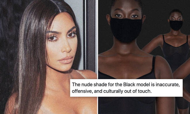 Kim Kardashian has come under fire for her new range of 'nude' face masks.