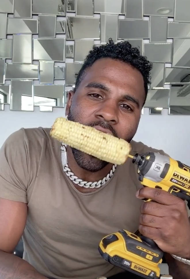 Jason Derulo chipped his teeth while eating a corn on the corn from a power drill.