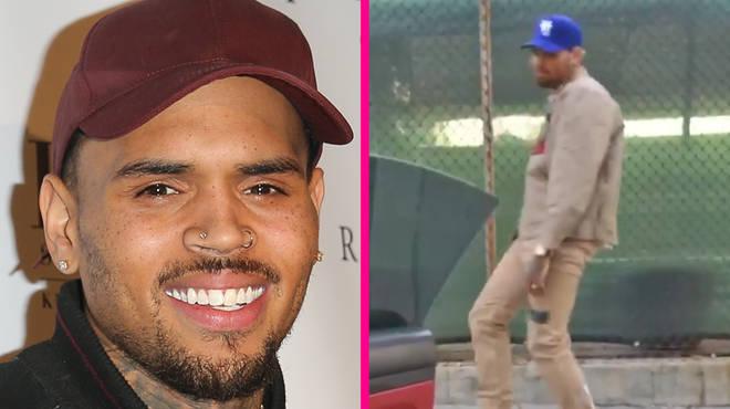 Chris Brown does #GoCrazyChallenge on Instagram