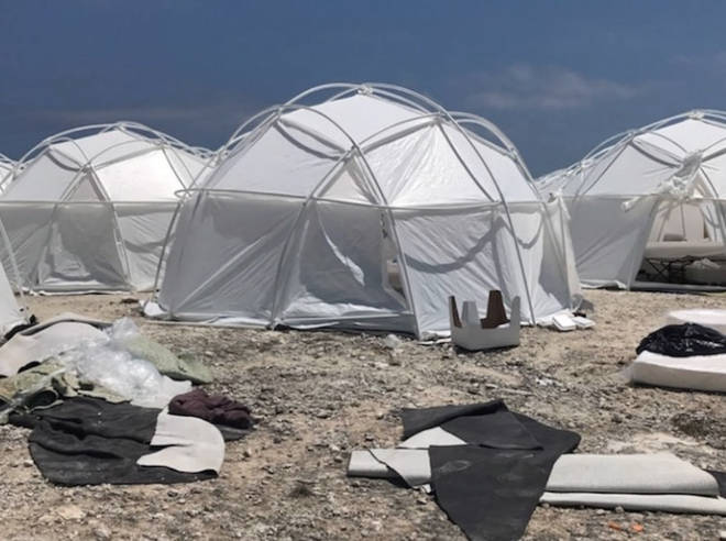 Fyre Festival footage showed a deserted area with mattresses on the floor