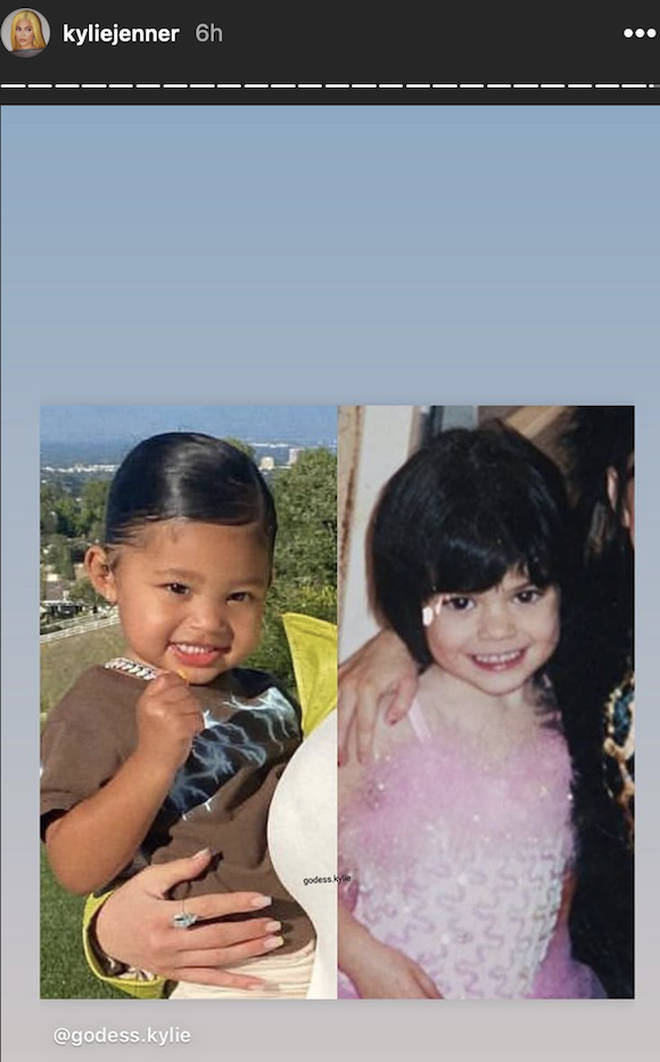 Kylie Jenner shares adorable throwback in side-by-side photo with daughter Stormi