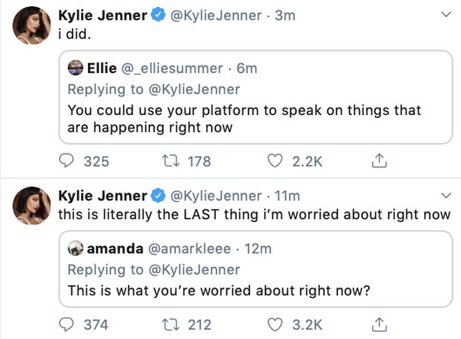 Kylie Jenner claims this is the last thing she wanted to have to address