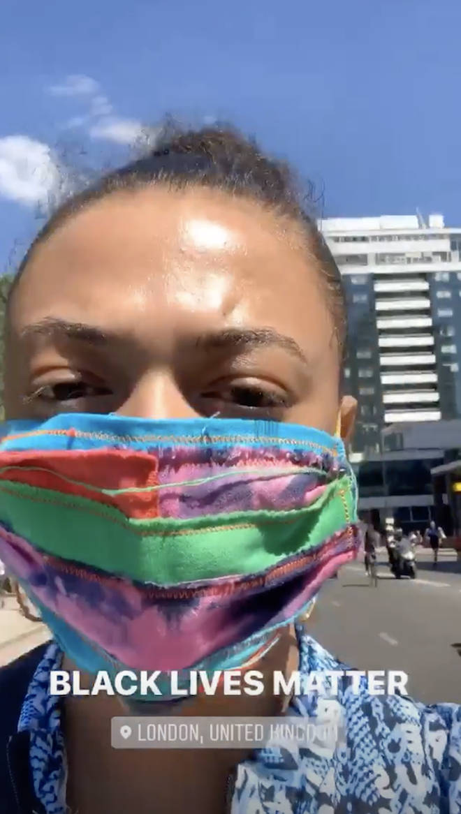 Mahalia takes to the London streets protest against racism
